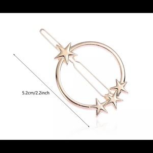 NIP Gold 3D Stars geometric hair barrette